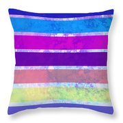 Stripes Abstract Art Throw Pillow by Ann Powell
