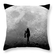 Stripper On The Moon Throw Pillow