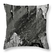 Stripping Hull Of An Old Abandoned Ship Throw Pillow