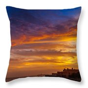 Strokes Of Sunset I Throw Pillow