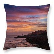 Strokes Of Sunset II Throw Pillow