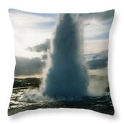 Strokkur Geyser - Iceland Throw Pillow