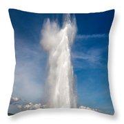 Strokkur/ Geysir In Iceland Throw Pillow
