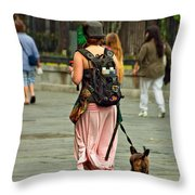 Strolling In Jackson Square Throw Pillow