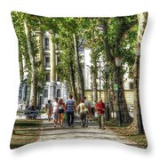 Strolling In Slovenia Throw Pillow