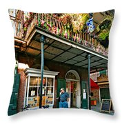 Strolling In The Quarter Throw Pillow