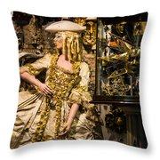 Strolling In Venice Throw Pillow