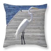 Strolling On The Dock Throw Pillow