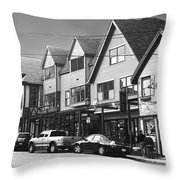 Strolling The Streets Of Bar Harbor Throw Pillow