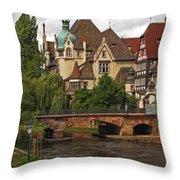 Strolling Through Strasbourg Throw Pillow