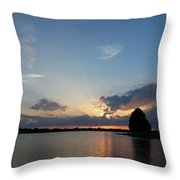 Strong Rays Throw Pillow