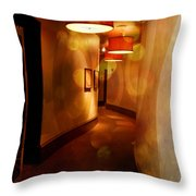 Strong Wine Wavy Walls Throw Pillow