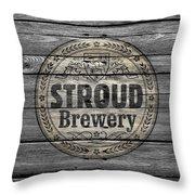 Stroud Brewing Throw Pillow