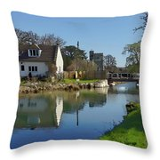 Stroudwater Canal Stonehouse Throw Pillow