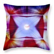 Structural Binary Reflection Throw Pillow