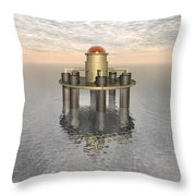 Structure At Sea Throw Pillow
