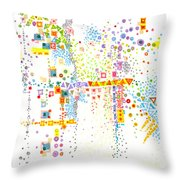 Structure Evolution Throw Pillow