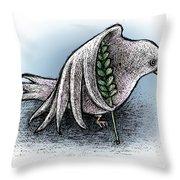 Struggling Peace Throw Pillow