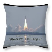 Sts-114 Discovery Launch Throw Pillow