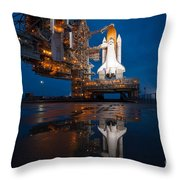 Sts 135 Atlantis Prelaunch Throw Pillow
