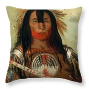 Stu-mick-o-sucks. Buffalo Bull's Back Fat. Head Chief. Blood Tribe Throw Pillow