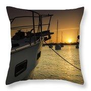 Stuart Marina Throw Pillow