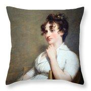 Stuart's Eleanor Parke Custis Lewis Or Mrs. Lawrence Lewis Throw Pillow