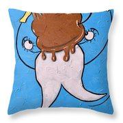 Stuck On Sweets Throw Pillow