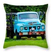 Studebaker Flatbed Truck Throw Pillow