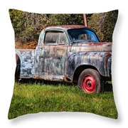 Studebaker Transtar Truck In Wv  Throw Pillow