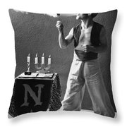 Student Works As Fire-eater Throw Pillow