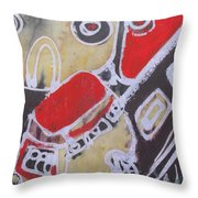 Students Are Traveling To An Excursion By                    Bus To Zoo Garden Throw Pillow