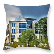 Students On Campus Throw Pillow