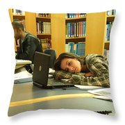 Studied Out Throw Pillow