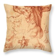 Studies For The Libyan Sibyl Throw Pillow