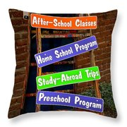 Studio 101 Sign Throw Pillow