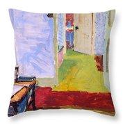 Studio Space, Ivor Street, Nw1 Oil On Canvas Throw Pillow