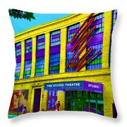 Studio Theatre Washington Dc Throw Pillow