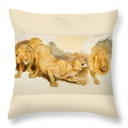 Study For Daniel In The Lions Den Throw Pillow