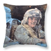 Study For Donald Campbell Oil On Canvas Throw Pillow