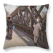 Study For Le Pont De L Europe Throw Pillow