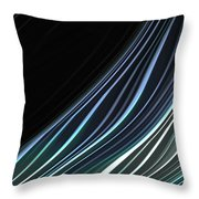 Study In Blues Throw Pillow