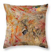 Study In Orange Red And Grey Throw Pillow