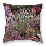 Study In Purple Throw Pillow
