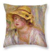 Study Of A Girl, C.1918-19 Throw Pillow