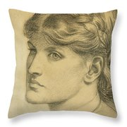 Study Of A Head For The Bower Meadow Throw Pillow