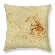 Study Of A Male Head Throw Pillow