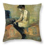 Study Of A Nude Throw Pillow