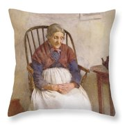 Study Of An Elderly Lady Throw Pillow