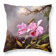 Study Of An Orchid Throw Pillow
